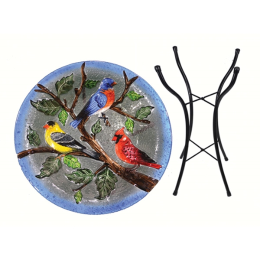 Songbird Essentials Songbird Trio Birdbath With Stand 18 in